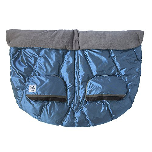 7AM Enfant Duo Double Stroller Blanket, Metallic Steel Blue