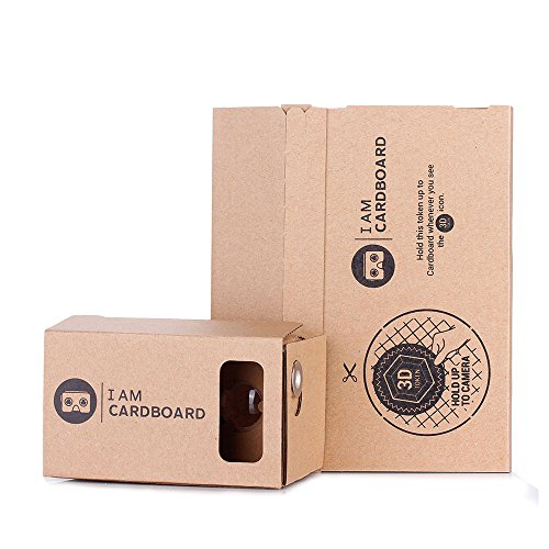 I AM CARDBOARD® 45mm Focal Length Virtual Reality Google Cardboard with Printed Instructions and Easy to Follow Numbered Tabs (WITHOUT NFC)
