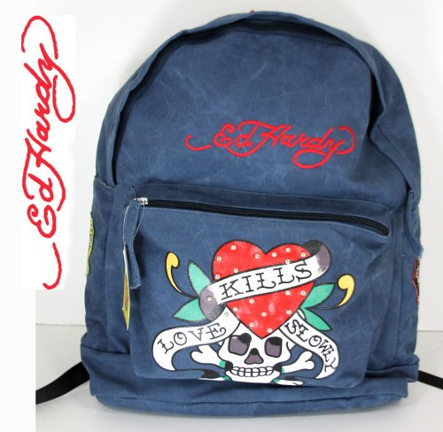 Reviews for Ed Hardy Tattoo Skull Tiger School Backpack or Travel Bag