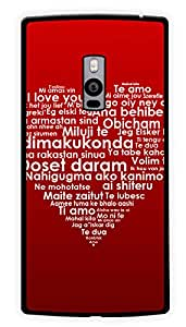 """Humor Gang Love In All Languages Printed Designer Mobile Back Cover For """"OnePlus Two"""" (2D, Glossy, Premium Quality Snap On Case)"""