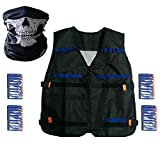 Elite Tactical Vest Kit for Nerf N-strike Elite Series,40-Dart Refill Pack,seamless skull face mask