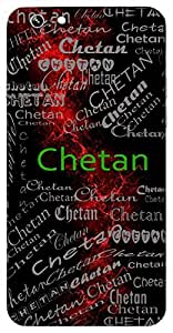 Chetan (Life, Living Creature) Name & Sign Printed All over customize & Personalized!! Protective back cover for your Smart Phone : Moto G-4-PLAY