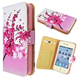 Generic Unique Drawing Pattern Photo Frame Wallet Leather Case Cover For iPhone 4 4G 4S