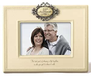 Grasslands Road Mr. and Mrs. 25th Anniversary Picture Frame