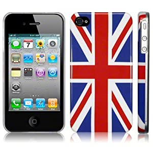 iPhone 4 4G Union Jack Glossy Hard Case Cover Protector from The Keep Talking Shop Apple iPhone 4th Generation Accessories Collection.