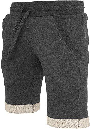 Urban Classics Turnup pantaloncini pile grigio sweatshorts - 60% cotone e 40% poliestere, XL, Charcoal
