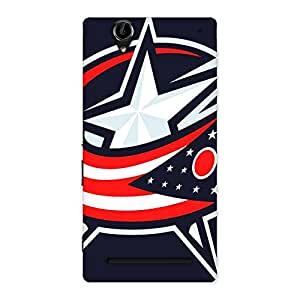 Ajay Enterprises Vintage Star Flagy Back Case Cover for Sony Xperia T2