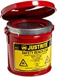 Justrite Steel Bench Safety Can