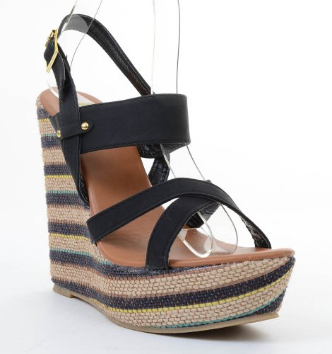 Funky Wedge Sandals front-999173
