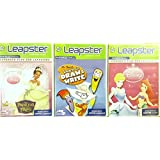 "Leap Frog Leapster Learning Game 3 Pack: Disney Princess ""Cinderella"" ""Ariel"", Mr. Pencils Learn To Draw & Write..."
