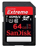 SanDisk Extreme 64 GB SDXC Class 10 UHS-1 Flash Memory Card 45MB/s SDSDX-064G-X46