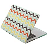 Aduro Apple MacBook Pro Retina 13 Rubberized SoftTouch Hard Case / Cover with Matching Silicone Keyboard Cover (Retail Packaging) (Chevron)