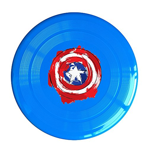 Discovery Wild Captain America Shield Logo Plastic Frisbee Flying Disc - Frisbee Like Toy For Outdoor Game Play - Sports For All Ages - Party Fun - RoyalBlue (Captain America 212 compare prices)