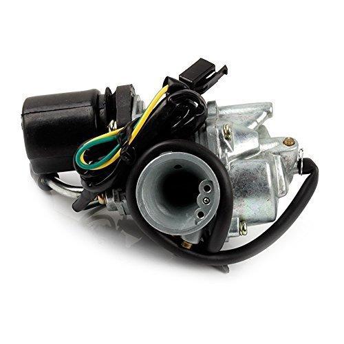 BAODE 17.5mm Vergaser mit E-Choke für PIAGGIO 50cc 2-Takt Carburetor für Aprilia Amico, Scarabeo, SR, Rally, CPI Hussar, Italjet Dragster, Formula, MBK Booster, Piaggio Sfera, Quartz, Yamaha BWS, Axis, Breeze