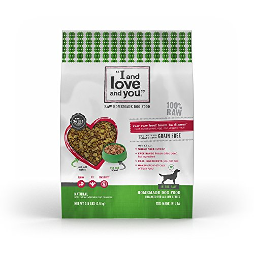 I and Love and You, In the Raw Homemade Dog Food, Raw Raw Beef Boom Ba Dinner, 5.5 lbs.