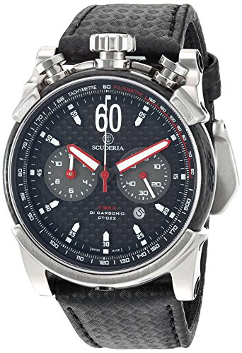 CT-Scuderia-Mens-CS10131-Fibra-Di-Carbonio-Analog-Display-Swiss-Quartz-Black-Watch