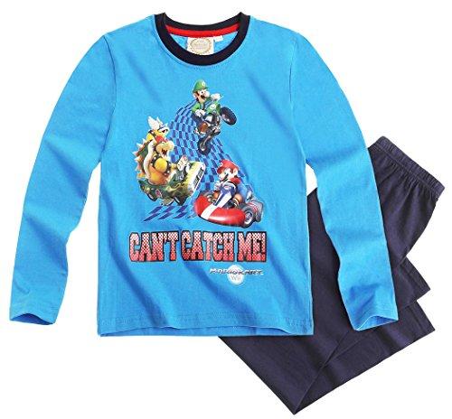 Mario Bros -  Pigiama due pezzi  - ragazzo Blu Blue - blu