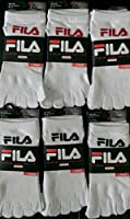 Pack of 6 Pairs Fila Skele-toes-socks -Women's- White 9-11 (Shoe Size 4-10)