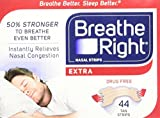 Breathe Right Extra Strong, One Size Fits All Nasal Strips, (Pack of 1,44 Count)