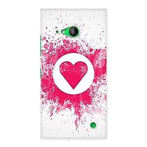 Delighted Heart Splash Multicolor Back Case Cover for Lumia 730