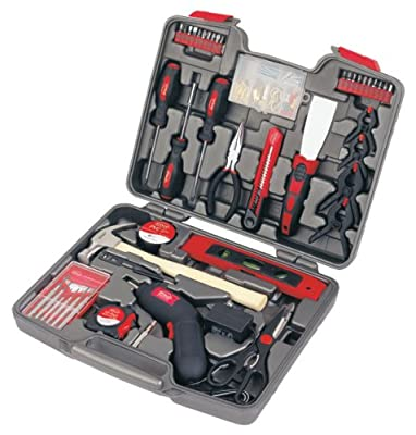 Apollo Precision Tools DT8422 144-Piece Household Tool Kit with 4.8-Volt Cordless Screw driver