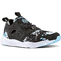 Reebok Mens Classics Furylite NP Shoes (Coal/White/Neon Blue)