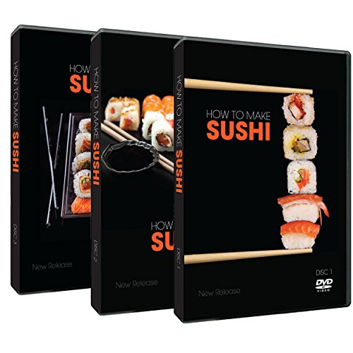 How To Cook Sushi . The Essential Guide To Making Sushi History , Ingredients , Preparation & Garnishing For Adults & Children 3 Dvd Set front-424118