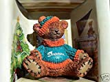 MIAMI DOLPHINS FOOTBALL TEDDY BEAR ORNAMENT CHRISTMAS at Amazon.com