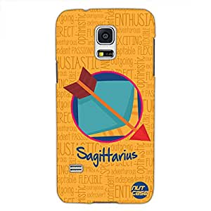 Designer Samsung Galaxy S5 Case Cover Nutcase - - Star Signs - Sagittarius Yellow