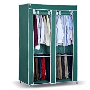 win win portable storage closet with rolling