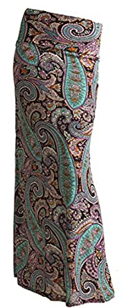 Gravity Threads Pattern Women's Poly Span Maxi Sky Lav Paisley S