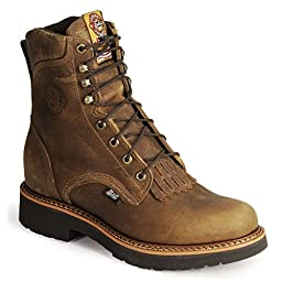 Justin Boots Men\'s J-Max Round-toe Work Boot,Tan Gaucho,9.5 D US