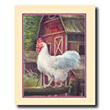 Rooster Chicken Barn Farm Country Home Decor Wall Picture 16x20 Art Print