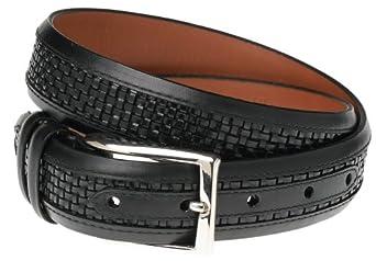 "Allen Edmonds Men's Woven Inlay Belt,Black/Black,32"" Waist"