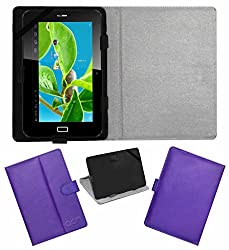Acm Leather Flip Flap Case For Datawind Ubislate 7c Plus Edge Tablet Cover Magnetic Closure Stand Purple