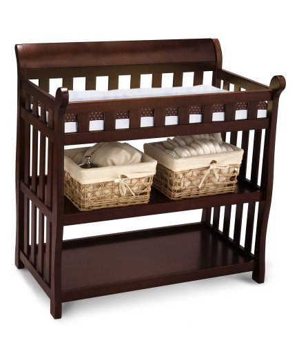 Great Features Of Delta Eclipse Changing Table, Black Cherry