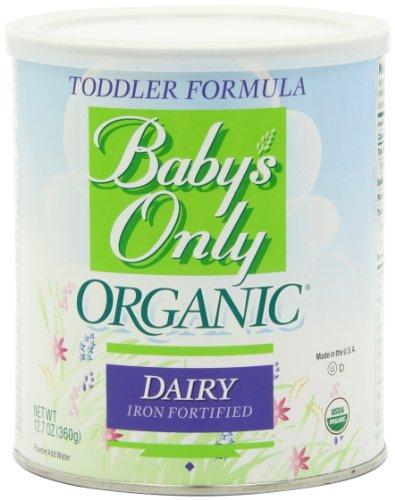 Imagen de Babys Sólo Fórmula Niño Orgánica, Plancha lácteos fortificados, latas de 12.7 onzas (paquete de 3)