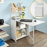 SoBuy-Wandschrank-Wandklapptisch-Standregal-Bcherschrank-mit-klappbarem-Schreibtisch-Computertisch-Schreibtisch-FWT12-W