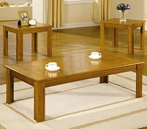 Phenomenal Reviews 3Pc Oak Veneer Wood Parquet Top Coffee 2 End Tables Machost Co Dining Chair Design Ideas Machostcouk