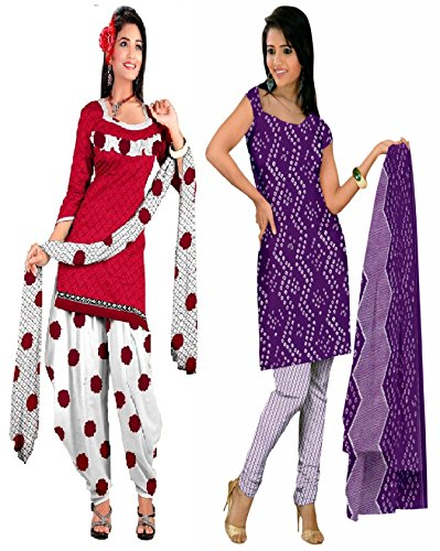 Araham soft crepe / American crepe dress material / unstitched Salwar Suit pack of 2 combo No 515
