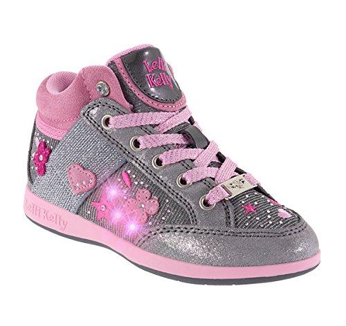Lelli Kelly Princess 6418 Sneakers Bambina pelle grigio glitter (34, Grigio)
