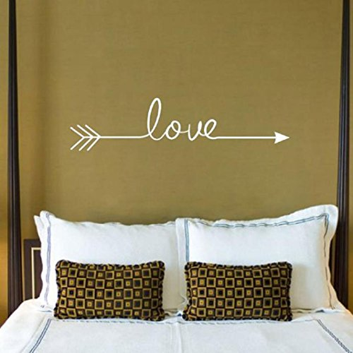 Iuhan® Fashion Love Arrow Decal Living Room Bedroom Vinyl Carving Wall Decal Sticker for Home Decoration (White) (Wall Decals White compare prices)