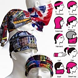 Okayji Multi functional Stylish Unisex Bandana (Multicolour)