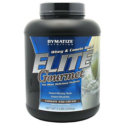 Dymatize Nutrition - Elite Gourmet Protein Whey & Casein Blend Powder Cookies & Cream - 5 Lbs.