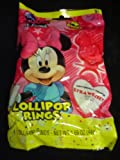 Disney's Minnie Mouse One Pack of 4 Strawberry Lollipop Rings