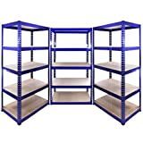 15 x 90cm Blue Utility Metal Racking / Warehouse Shelving Units / Garage / Shed