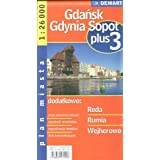 Poland City Map of Gdansk, Gdynia, Sopot + 3 Other Cities: Reda, Rumia, Wejherowo