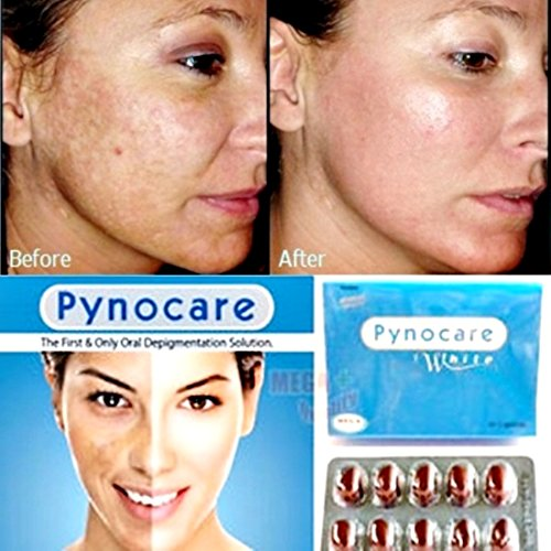 8 Pack(160 Capsules) Of Pynocare 100% Herbal Whitenin Anti Melasma Hyperpigmentation Sun Damage Dark Spot