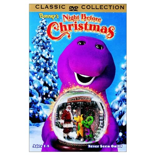 Barney night before christmas dvd 1999 little red bus