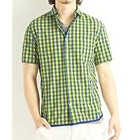 (バレッタ) Valletta 3color ホリゾンタルカラーギンガムチェック柄半袖シャツ